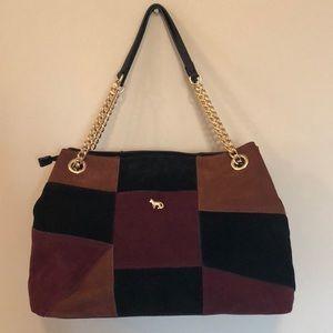 Emma Fox suede patchwork handbag. Never used